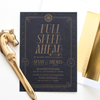Susan + Thomas's Art Deco Letterpress Invitation Suite